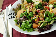 Bean salad stock image