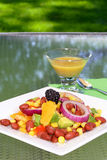 Bean salad with mustard dressing Stock Images
