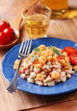 Bean salad and shrimp Royalty Free Stock Image