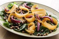 Bean Salad. Vegetarian Bean Salad with Lettuce Royalty Free Stock Photos