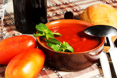 Bean sauce. And tomatoes and wine Stock Image