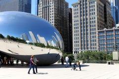 Bean Sculpture in Chicago Royalty Free Stock Photos