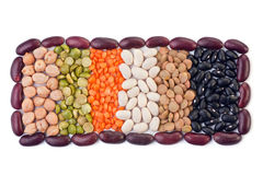 Bean seed mix Stock Photos