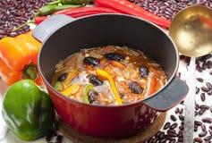 Bean soup. Still life of Mexican bean soup Stock Photos