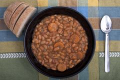 Bean soup. Royalty Free Stock Image