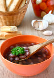 Bean soup. Royalty Free Stock Photo