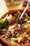 Bean soup in the bowl Stock Photography