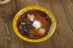 Bean Soup With Cajun Sausage preto imagens de stock royalty free