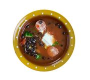 Bean Soup With Cajun Sausage preto fotos de stock
