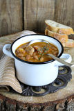 Bean soup with ham Royalty Free Stock Photography