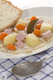 Bean soup with potato and sausage Royalty Free Stock Images