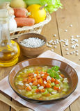 Bean soup with pumpkin Stock Photo