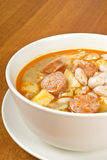 Bean soup with Sausages Stock Photo