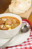 Bean soup with Sausages Royalty Free Stock Images