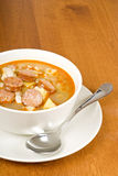 Bean soup with Sausages Stock Images