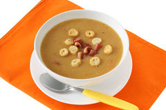 Bean soup with sausages Royalty Free Stock Photography