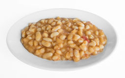 Bean soup on white dish. Royalty Free Stock Photography