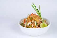 Bean sprout bowl with dried shrimp Royalty Free Stock Image