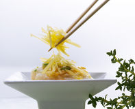 Bean sprout noodles stock photography