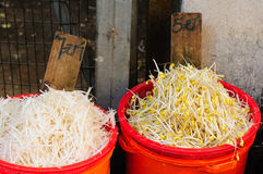 Bean Sprouts at a China Wet Market Royalty Free Stock Photo