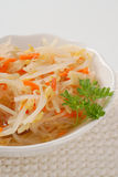 Bean sprouts salad Royalty Free Stock Image