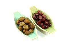 Bean sprouts and Thai Bambara groundnut Stock Photos