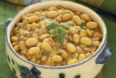 Bean Stew blanco marroquí fotografía de archivo
