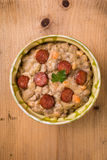 Bean stew with sausage Stock Photography
