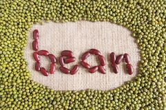 Bean text made by group of beans and lentils Stock Photography