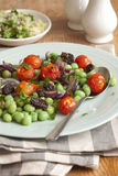 Bean and tomato salad Stock Photos