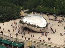 The Bean. Views from Above Millennium Park Stock Photos