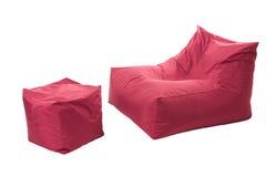 Beanbag di Seat isolato su fondo bianco Fotografia Stock Libera da Diritti