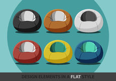 Beanbag in a flat style Stock Images