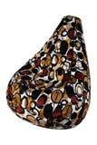 Beanbag flessibile e regolabile variopinto del sedile isolato su fondo bianco Fotografia Stock