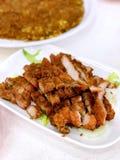 Beancurd fermenté a cuit la côtelette à la friteuse de ventre de porc photo libre de droits