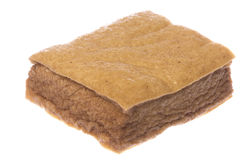 Beancurd morbido fritto isolato immagine stock