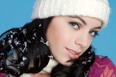beanie dziewczyny zima fotografia royalty free