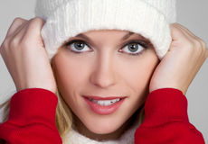 Beanie Woman Stock Images
