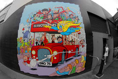 Beano bus wall painting Stock Image