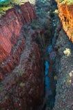 Beanoklyfta, Karijini nationalpark Arkivbild