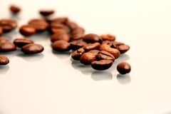 Beans. A coffe beans on the table royalty free stock image