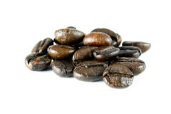 Beans. Coffee beans background isolated on white background Royalty Free Stock Images