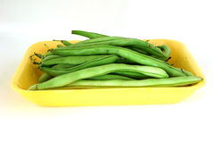 Beans. String beans on a white background Royalty Free Stock Image