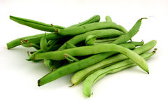 Beans. String beans on a white background Stock Photography