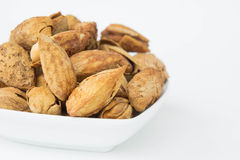 Beans, almonds The delicious taste And healthy. Beans or  almonds The delicious taste And healthy Stock Photo