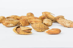 Beans, almonds The delicious taste And healthy. Beans almonds The delicious taste And healthy Stock Photos