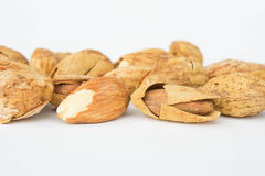 Beans, almonds The delicious taste And healthy. Beans almonds The delicious taste And healthy Royalty Free Stock Image