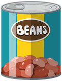 Beans in aluminum can Stock Photography
