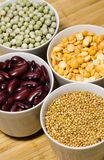 Beans assortment. Various types of beans. Shot in studio royalty free stock images