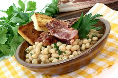 Beans with bacon Royalty Free Stock Photo